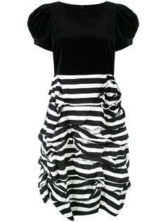 ruched two tone striped dress Comme Des Garçons Girl