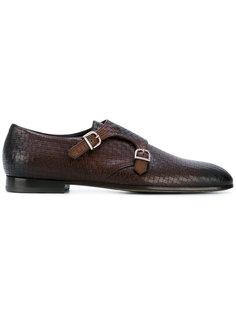 туфли-монки с двумя ремешками Baldinini