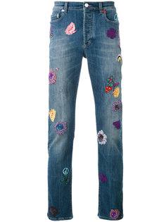 джинсы прямого кроя с вышивкой  Paul Smith London