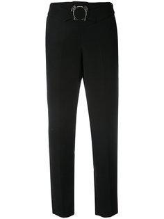 брюки прямого кроя с поясом Versace Jeans