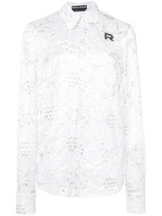 блузка с цветочной вышивкой Rochas