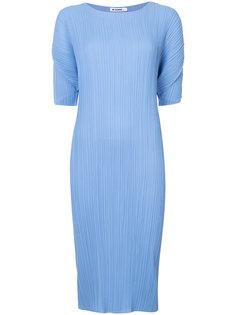плиссированное платье Jil Sander
