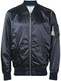 куртка с металлическим отблеском Maison Kitsuné