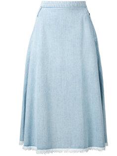юбка из шамбре с необработанным подолом Twin-Set