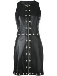 studded zip mini dress Versus