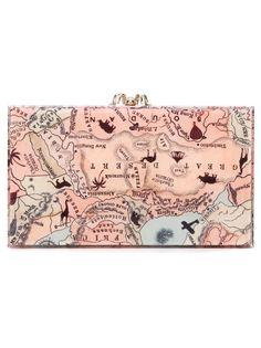 клатч Pandora с принтом карты Charlotte Olympia