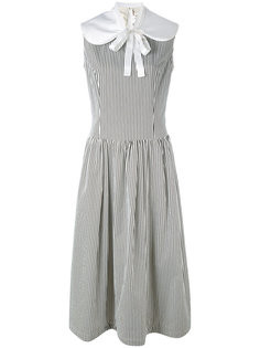 striped sleeveless midi dress Comme Des Garçons Comme Des Garçons