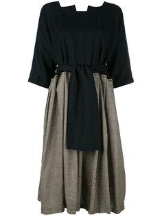 платье с узором в ломаную клетку Daniela Gregis