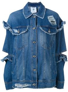 джинсовая куртка с рюшами Steve J & Yoni P