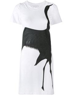 платье с принтом черного лебедя Io Ivana Omazic