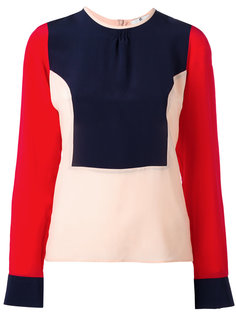 блузка дизайна колор-блок Ps By Paul Smith