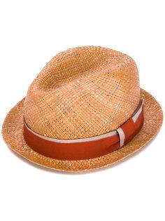 шляпа-федора с тесьмой вокруг тульи Paul Smith