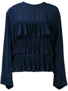 блузка с плиссированными рюшами Marni