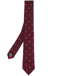 галстук с вышивкой вишен Paul Smith