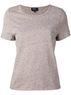 футболка с короткими рукавами A.P.C.