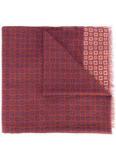 шарф с мелким узором Corneliani