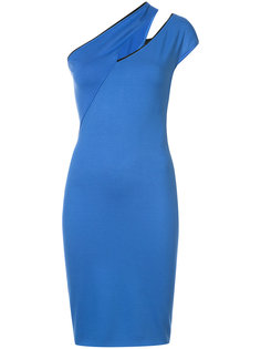 shoulder slash cocktail dress Mugler