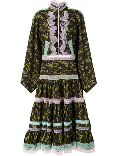lace trim camouflage dress  Natasha Zinko