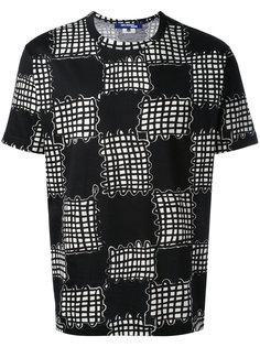 футболка с принтом в клетку Junya Watanabe Comme Des Garçons Man