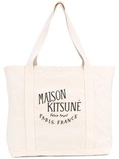 logo print tote Maison Kitsuné