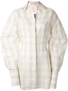 checked shirt dress Jacquemus