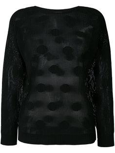 свитер в рубчик с узором в горох Issey Miyake Cauliflower