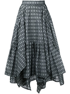 geometric print ruffled skirt Maticevski
