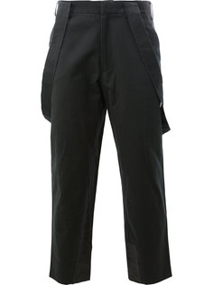 cropped suspender trousers Aganovich