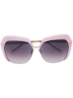 солнцезащитные очки с градиентным узором  Linda Farrow