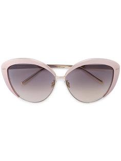 """солнцезащитные очки 579 C4 в оправе """"кошачий глаз"""" Linda Farrow"""