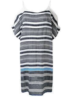 striped cold-shoulder dress Lemlem