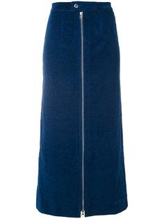 джинсовая юбка на молнии Eckhaus Latta