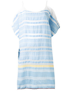striped cold-shoulder dress Lemlem
