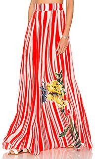 High waist maxi skirt - ROCOCO SAND