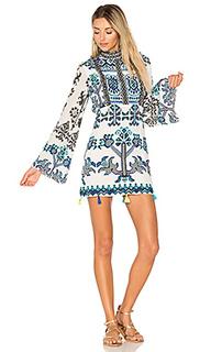 Мини платье с рукавами колокол - ROCOCO SAND