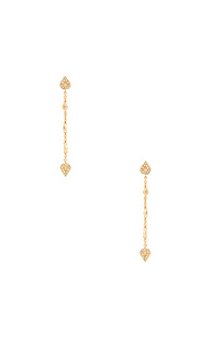 Moonstone chain drop earrings - Luv AJ