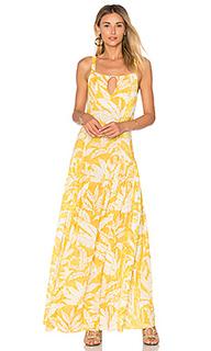 Макси платье tropical leaves - ADRIANA DEGREAS