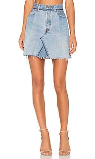 Мини юбка с высоким поясом - RE/DONE