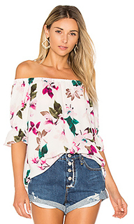 Off shoulder blouse with smocked sleeves - 1. STATE