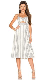Миди-платье с вырезами - BCBGMAXAZRIA