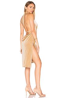 Бархатное мини платье vegas - LIONESS