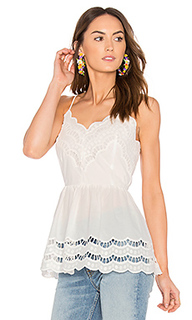 Lace trim detail top - Endless Rose