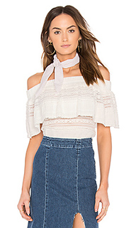 Ruffle overlay off the shoulder top - Endless Rose