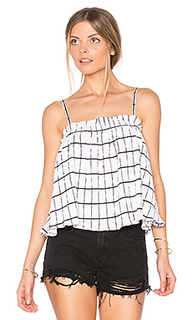 Check ruffle trapeze top - MINKPINK