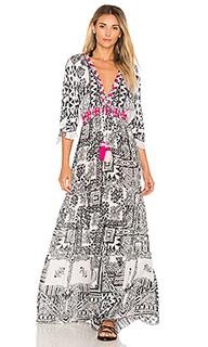 Макси платье с глубоким v-образным вырезом - HEMANT AND NANDITA