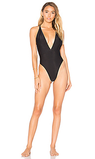 Deep v crossed back one piece - Luli Fama