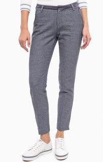 Синие укороченные брюки из хлопка Lion OF Porches