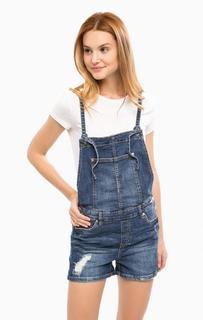 Рваный джинсовый комбинезон Tom Tailor Denim