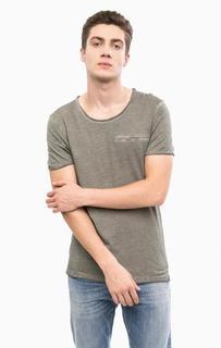 Хлопковая футболка с круглым вырезом Mavi