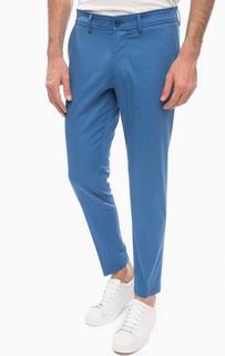 Классические хлопковые брюки синего цвета Drykorn